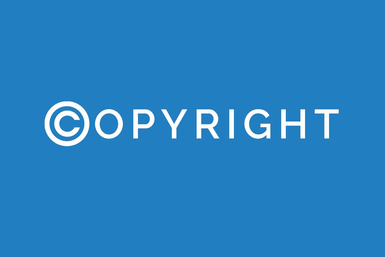 Graphic picture depicting copyright