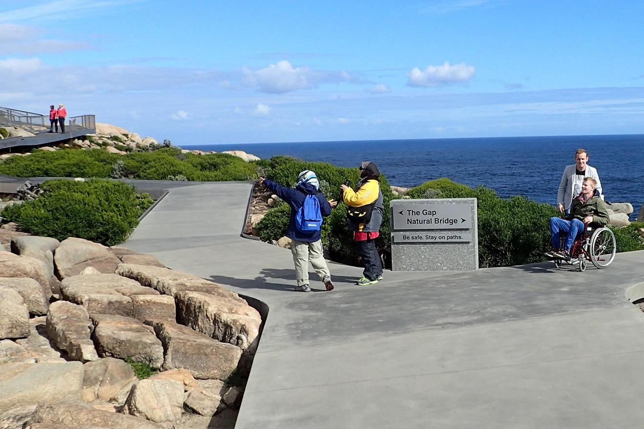 Accessible paths at The Gap and Natural Bridge in Torndirrup National Park near Albany