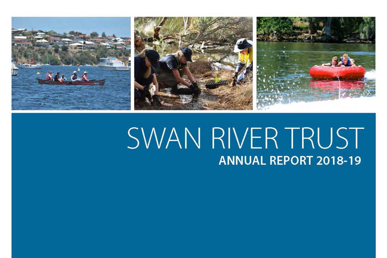 Swan River Trust 2018-19 Annual Report cover
