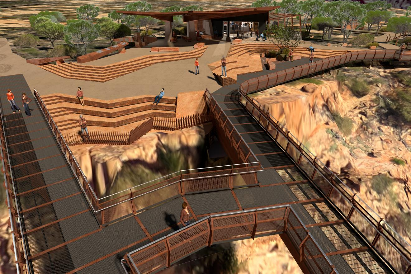 Kalbarri Skywalk kiosk artist impression