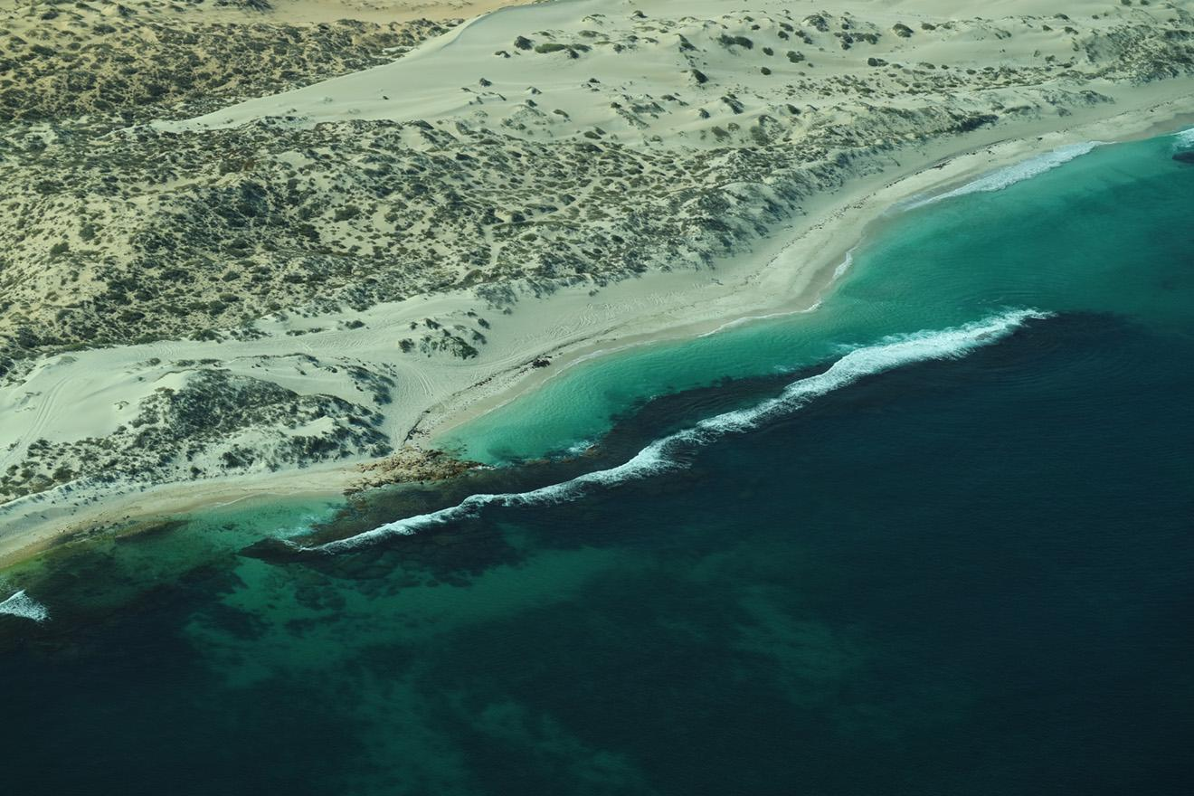 Aerial image of the Ningaloo Coast